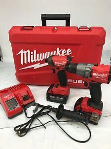 Milwaukee FUEL 2997-22 M18 18-Vlt 2-Tool Hammer Drill/Impact Driver Kit VG M