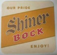 SHINER BOCK, OUR PRIDE, ENJOY! Beer COASTER, Mat, Spoetzl Brewing, TEXAS 2010