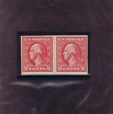 Sc# 533 Horiz Pair Unused Original Gum Mnh 2c Washington, 1920, Two Certs, Look