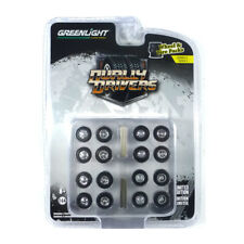 """Greenlight 16050-A Tyre Set """" Dually Drivers """" - Wheel & Tires Pack New !°"""
