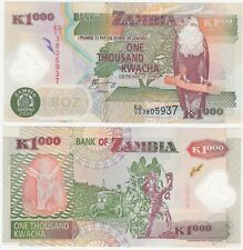 Zambia 1000 Kwacha 2006 P-44e UNC Uncirculated Polymer Banknote - Fish Eagle