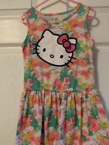 Girls Hello Kitty Size 5 Dress Cute Pink Green White