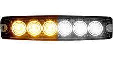 Buyers Rec. Amber/Clear LED Thin Mount Horizontal Strobe Light, 12-24V  8892202