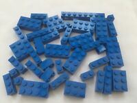 Genuine LEGO Blue Basic Bricks Blocks 1 2 X 2 4 6 8 10 12 39Pcs