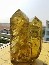 3527g Huge Natural Citrine Quartz Crystal Rainbow Point Polished Healing W2298