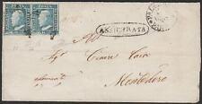 AA07 lettera con coppia 2 grana III tav. Palermo a Montedoro firma Diena Cert.