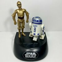 1995 Star Wars Electronic Talking Coin Bank R2-D2 & C3-PO ThinkWay Toys Read Dis