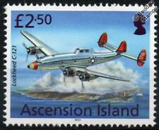 USAF Lockheed C-121 Constellation AEW Aircraft Stamp (2013 Ascension Island)