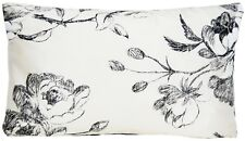 Black White Cushion Cover Designers Guild Silk Fabric Watelet Printed Rectangle
