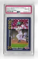 2010 CEDAR RAPIDS KERNELS MIKE TROUT #1 PSA 10 GEM MINT