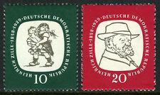 Germany DDR/GDR 381-382, MNH. Heinrich Zille, Artist. Sketch, Self-portrait,1958