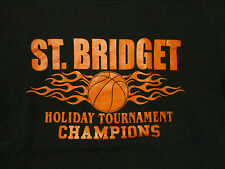 CATHOLIC Church Basketball Saint St. Bridget T Shirt FREE Shipping size Medium