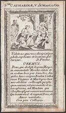 Hl. Katharina St, Catherine of Alexandria Santa Caterina d'Alessandria - 17.Jh.-