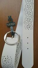 Ralph Lauren LAUREN Wide womens Belt White Large L MWT $ 48