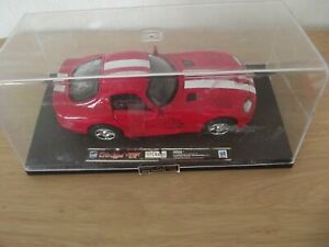 NEW-RAY  DODGE VIPER 1:32 DIECAST MODEL CAR IN RED.