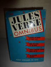 Jules Verne, OMNIBUS, 4 Volumes in 1, EARTH TO THE MOON,  Vintage 1972,HCDJ B99