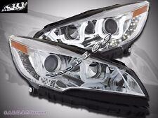 2013-2015  Ford Escape LED U Bar Style Chrome Projector Headlights Pair
