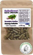 100 Kapseln à 350 mg Salbei Salbeikraut Salvia officinalis Atemwege Wechseljahre