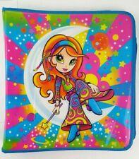 RARE Lisa Frank 3-Ring Binder Notebook Zipper Closure Hippie Girl Moon Rainbow