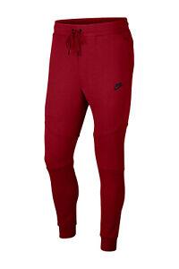 Nike Sportwear Tech Fleece Mens Pants Joggers Taper Red Size XL 805162 678