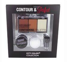 CITY COLOR Contour & Perfect Set Palette HD Powder kabuki brush perfect gift