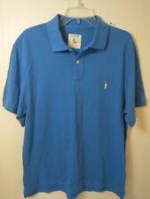 J Crew Men's Polo Shirt Size Large Blue Short Sleeve Cotton Logo Casual Wear