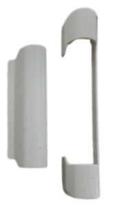 upvc tilt and turn window top hinge covers GU Unijet white