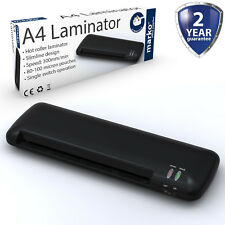 A4 A5 máquina Laminadora Rodillo Laminadora Calor Térmico Casa Oficina Slimline Negro
