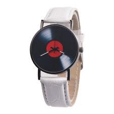 Reloj Analogico Unisex - Ø 38mm - Diseño Vinilo Disco DJ - Correa Blanca - RJV04