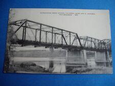 INTERNATIONAL BRIDGE BETWEEN MAINE AND NEW BRUNSWICK 1992 VINTAGE POSTCARD