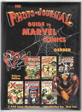 THE PHOTO-JOURNAL GUIDE TO MARVEL COMICS DELUXE EDITION HB w STAN LEE AUTO & COA