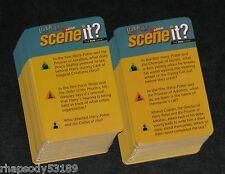 Harry Potter 2nd Edition Scene It Trivia Game Card Set - 2007 Mattel game parts