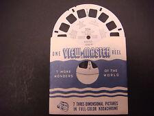 Sawyer's Viewmaster Reel,1952,Sun Valley Idaho,Winter,Penny Mtn,Dollar Mtn,#206