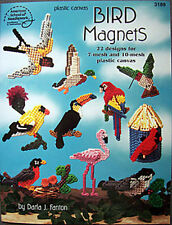BIRD MAGNETS Plastic Canvas Project Pattern Book New OP