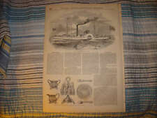 1852 ANTIQUE MARITIME STEAMER STEAMSHIP SHIP PRINT NR
