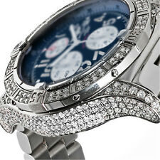 Men's Diamond Breitling Super Avenger Blue Dial A13370 Watch
