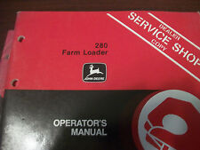 John Deere Tractor Operator'S Manual 280 Farm Loader Issue A3