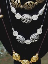 Beautiful Antique in Sterling Silver  Bronze  Brass Necklace by your design