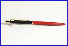RARE MONTBLANC SlimLine(SL)  Ball Point Pen/ Push-Mechanism /  BLACK, GOLD & RED