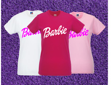 BARBIE Girl Ladies T-Shirt Womens Top Tee 1ST CLASS POSTAGE (Slim Fit)