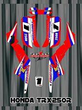 TRX250R TRX 250 Honda ATV SEMI CUSTOM GRAPHICS KIT  FREE Semi Custom BIG RED