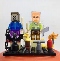 STEVE & ALEX MINERS VIDEOGAME ARCADE mini WORLDS BEST GIFT BRICKS