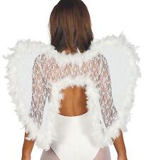 Mujer Deluxe Encaje Blanco Pluma Alas de ángel Accesorio para disfraz