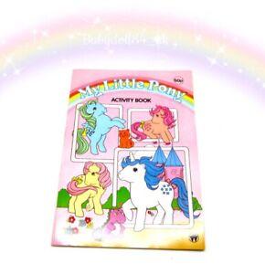 ⭐️ My Little Pony ⭐️ G1 Vintage UK Activity Books (Used) Merchandise!