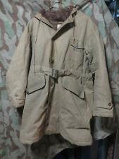 WW2 US Navy USN Deck Coat Parka Fur Lined Long Jacket Uniform USGI Vet Find 48