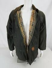 Vintage Burberry's Wax Cotton Field Jacket Nova Check Work Hunting Large
