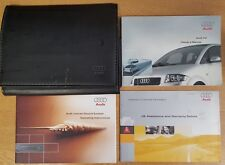 GENUINE AUDI A2 HANDBOOK OWNERS MANUAL WALLET 1999-2005 PACK D-845