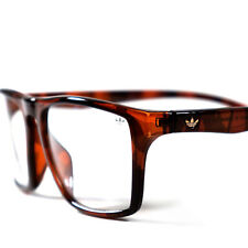 c7986d0834 Adidas Originals Specs Square Dark Brown Gold Logo Clear Fashion Eye Glasses