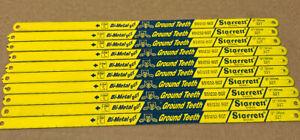 """10 pc STARRETT BS1232-BGT 12"""" 300mm x 32T Bluestripe HSS Bi-Metal Hacksaw Blades"""