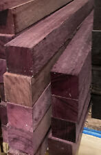 1 Purpleheart Blank 2x2x18 Woodworking Project Lumber Game Calls Pool Cue Timber